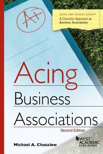 Acing Business Associations (Acing Series) by Michael Chasalow (2016-01-08)