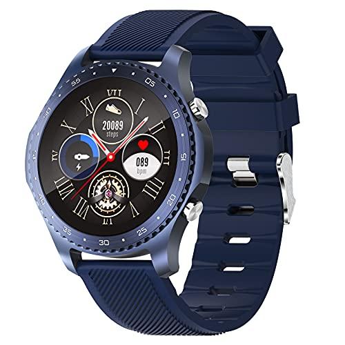 HQPCAHL Reloj Inteligente Smartwatch con Llamada Bluetooth Monitoreo de Temperatura presión Arterial oxígeno en Sangre sueño, Pulsera de Actividad Inteligente,Azul