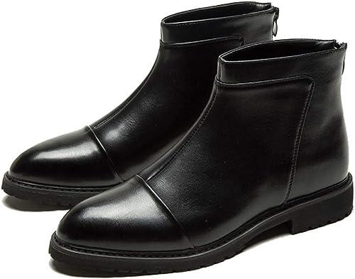 botas Chelsea Para Hombre botas Martin botas De Cuero botas De Negocios De Gran Tamaño Calzaño Puntiagudo Botines Botines De Caballero Escalada