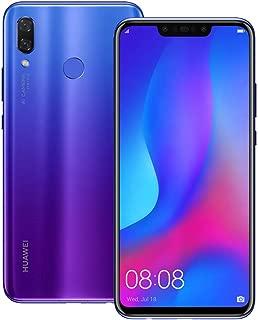 Huawei nova 3 (PAR-LX9) 6GB / 128GB 6.3-inches LTE Dual SIM Factory Unlocked - International Stock No Warranty (Iris Purple)