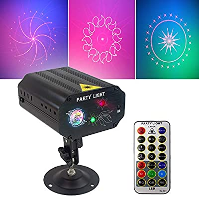 DJ Disco Party Lights Stage Lights Spooboola Led Stage Projector Stage Effect Karaoke Strobe Perform for Stage Lighting with Remote Control for Dancing Christmas Gift KTV Bar Birthday Out …