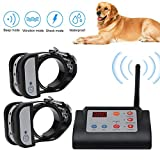 2in1 Wireless Dog Fence Electric Pet Training Containment System, Safe Effective, Adjustable Control
