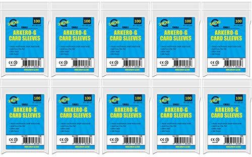 Arkero-G 1000 Soft Sleeves Small (japanische Hüllen Größe) - 10 Packungen durchsichtige Kartenhüllen für Yu-Gi-Oh! TCG Karten