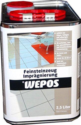 Wepos 2000204419 Feinsteinzeug Imprägnierung 2,5 L