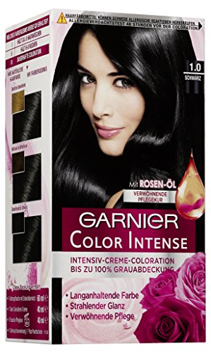 Garnier Color Intense Dauerhafte Creme-Coloration 1,0 Schwarz