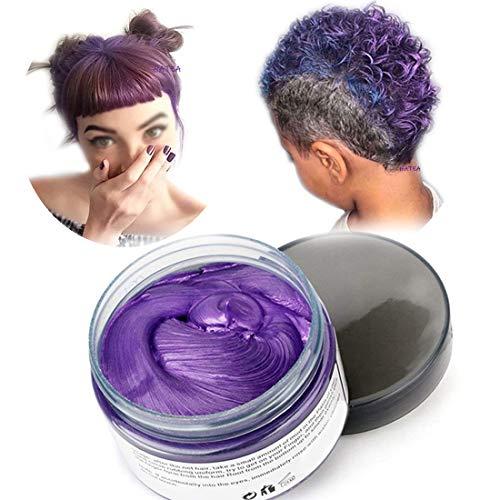 Haarfarbe Wachs, natürliche Matte Frisur für Party. Cosplay, Halloween (Lila)