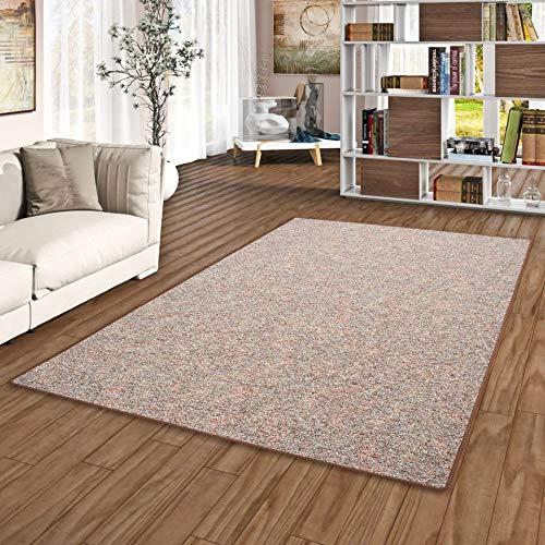 Memory Schlingen Teppich Braun Meliert in 24 Größen