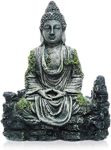 Uotyle Aquarium Buddha Statue Decorations - Aquarium Decor Ornament Fish Tank Buddha Statue Decoration