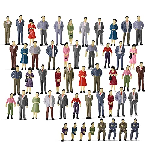 P50 Model Trains Architectural 1:50 O Scale Painted Figures O Gauge Sitting and...