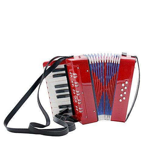 Kinder-Akkordeon-Musikinstrument Spielzeug 17 Key 8 Bass Akkordeon, Rot