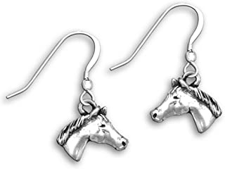 Sterling Silver Quarter Horse Earrings by The Magic Zoo
