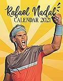 Rafael Nadal: 2021 Wall Calendar - Big Size 17''x11''(WxH) - Tennis Calendar