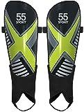 55 Sport X-Force Club - Parastinchi da calcio, taglia L, colore: Nero