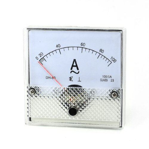 Aexit Klasse 2,5 Genauigkeit AC 0-100A Analoges Messgerät Weiß Klar Schwarz (1e3d7dd9e7c17cbf1c3736b892cea5d4)