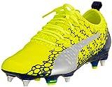 PUMA Evopower Vigor 1 Graph MX SG, Chaussures de Football Homme, Jaune (Safety Yellow-Silver-Blue Depths), 44 EU