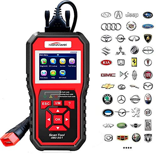 KONNWEI OBD2 Scanner Code Reader Professional OBDII Anto Scanner Car Diagnostic Check Engine Light Tool for All OBD II Protocol Cars After 1996 (Enhanced KW850)