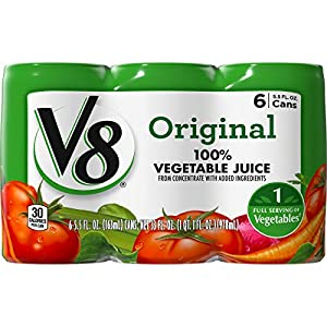 V8 Original 100% Vegetable Juice, 5.5 oz. Can (8 packs of 6, Total of 48) |