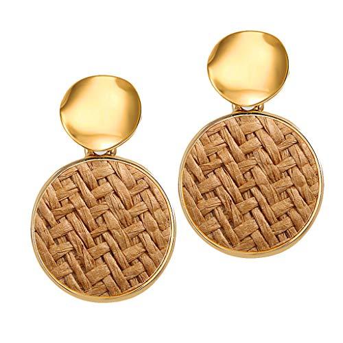 Purchase Jushye 2019 Stylish Simple Metallic Gold Outer Ring Irregular Shape Love Acrylic Earrings J...
