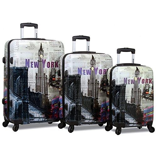Rolite New York 3-piece Lightweight Hardside Spinner Luggage Set, One Size