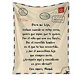 QKFON Manta Premium para mi Hija/Hijo, Manta de Estilo sobre con impresión de Carta, Duradera y cómoda Manta de Franela para el hogar (02, 150X200cm)