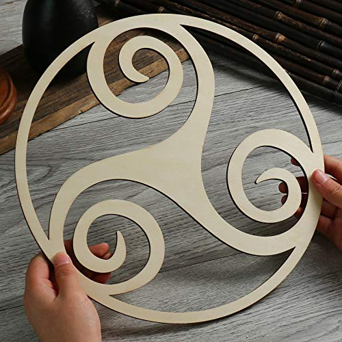 Simurg 11.5' Celtic Triskelion Wall Art Triple Spiral Art Celtic Home Decor Triskele Irish Wedding Gift Pagan Altar