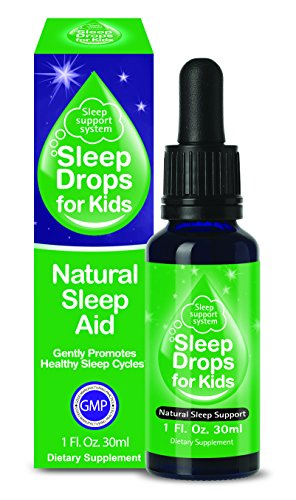 SleepDrops for Kids – All Natural Herbal Sleep Aid For Children aged 3 to 12, Going To Sleep Faster, Non-habit Forming, (1 Ounce) Great Tasting