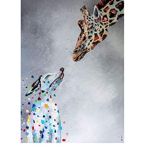 XIANRENGE poster XIANRENGE poster Lovely Graffiti Art Animal Canvas Painting...