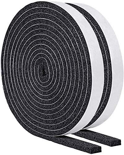 【今だけ】すきまテープ 防音 防水 気密 断熱 適用 静音テープ 気密防水パッキン 12mm (幅) x 6mm (厚さ) x 2m(長さ)x 2本 (隙間テープ D)