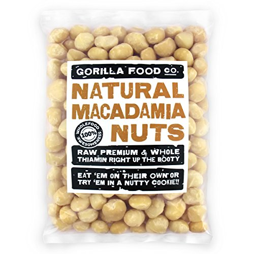 Premium Whole (95%) Raw Macadamia Nuts Unsalted 16Oz (1-Pack)