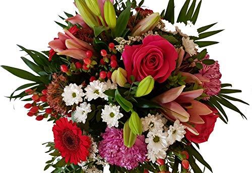 Flora Trans Blumengruß mit Rosen und frischen Blumen -Blumenstrauß für Sie