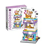 Qman Girls Building Blocks Toy Creative Bubble Tea House Building Kit Milk-Tea Shop Street-View Bricks Toy for Girls 6-12 and Up (302 Pieces)