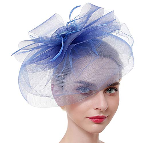 Zoylink Chapeau Fascinant Chapeau De Thé Agrafe élégante De Grand De Fleur De Cru De Cru