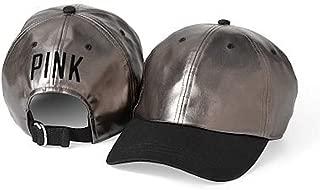 Victoria's Secret Pink Baseball Hat, Gunmetal/Polka Dots