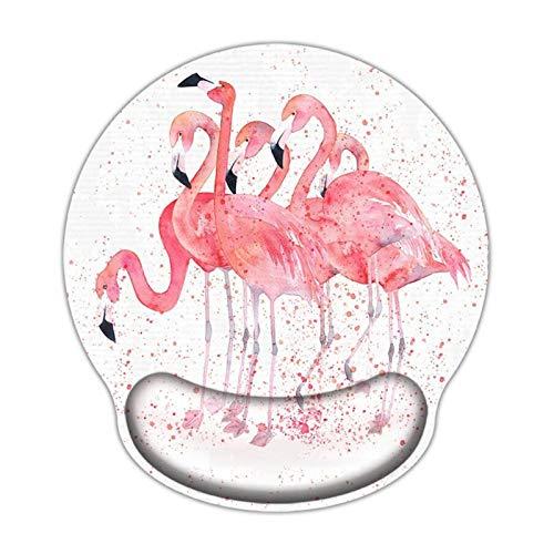 Almohadilla para reposamuñecas Teclado Juego cómodo cojín de ratón Alfombrilla de ratón con la Ayuda del Resto de muñeca Pink Bird Mat Cojín de muñeca de ratón