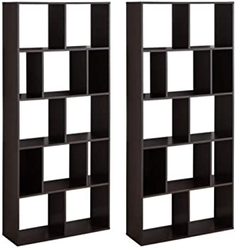 2 Set Mainstays Home 12-Shelf Bookcase