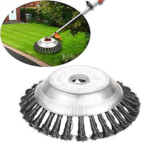 Clearance sale ❤️❤️ AMhomely 6 ❤️❤️ Steel PRO Garden Weed Brush Lawn Mower Razors Lawn Mower Eater Trimmer,Trimmer Head Manganese Steel Alloy Hit Grass Head,Garden Steel Wire Wheel