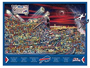 YouTheFan NFL Buffalo Bills Wooden Joe Journeyman Puzzle, Team Colors, 17.75 x 13.25 Inches