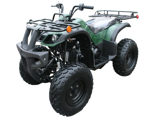 MOUNTOPZ 150cc Four Wheelers 23' Tires with Reverse, Red