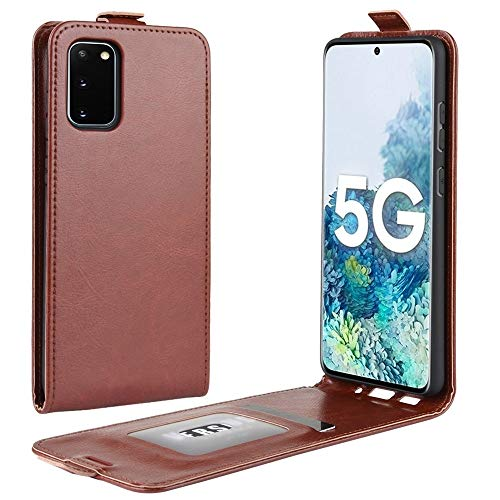 XIAOMIN for Samsung Galaxy S20 FE 4G/5G R64 Texture Single Vertical Flip Leather Protective Case with Card Slots & Photo Frame Environment-Friendly (Color : Brown)