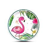 WERNNSAI 50 Pezzi Fenicottero Piatti - Hawaiano Luau Tropicale Tema Forniture per Feste US...