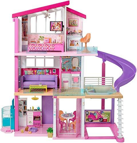 Barbie Casa dei Sogni per Bambole con 8 Stanze, Garage, Scivolo,...