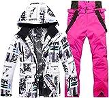 Tammy W Nash Winter Ski Suit for Men Warm Windproof Waterproof Sports Snow Jackets and Pants Male Ski Equipment Snowboard Jacket