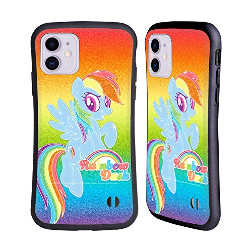Head Case Designs Officially Licensed My Little Pony Rainbow Dash Rainbow Vibes Hybrid Case Compatible with Apple iPhone 11