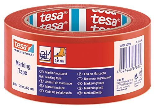 Tesa - Nastro adesivo di delimitazione, 50 mm x 33 m, colore: Rosso