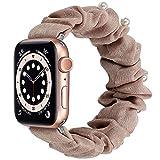 Miimall - Correa elástica para Apple Watch Serie 1, 2, 3, 4, 5, 6, SE, 40 mm, 38 mm, de tela suave estampada para Apple Watch 1/2/3/4/5/6/SE 40 mm 38 mm