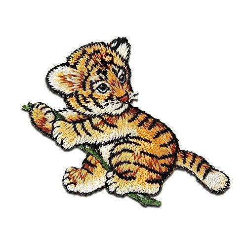 Parches - tigre Baby animal - naranja - 7,2x5,6cm - termoadhesivos bordados aplique para ropa