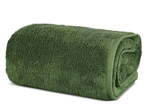 Toalla de baño turca TURKUOISE de Gran tamaño, Calidad Premium, Extragrande, 101,6 x 203 cm, 100% algodón Turco Suave, Verde Musgo,...