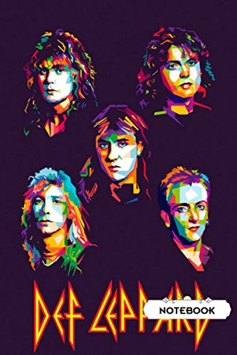 Camping trip planner Notebook : Def Leppard Lined NotebookGift
