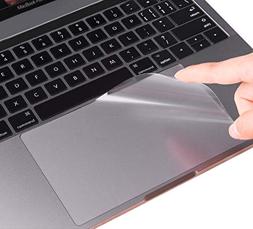 MacBook Pro 13 2019 2018 2017 Skin, CASEBUY Clear Anti-Scratch Trackpad Protector Cover for Newest MacBook Pro 13 Inch with/Without Touch Bar (A2159/A1706/A1708/A1989, Release 2016-2019)