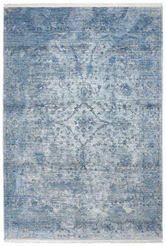 SchoenesWohnen24 Obsession Teppich Laos 454 Blau 80x150cm